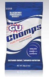 GU Energy Gels Chomps Blueberry